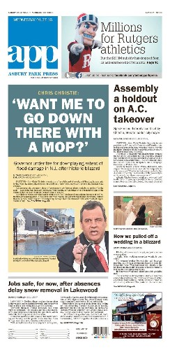 'It was a joke': Chris Christie defends 'mop' quip on storm response