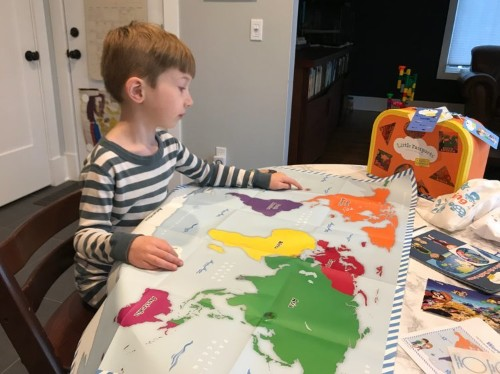 Little Passports is a subscription box that manages to simultaneously entertain and educate my kid about the world