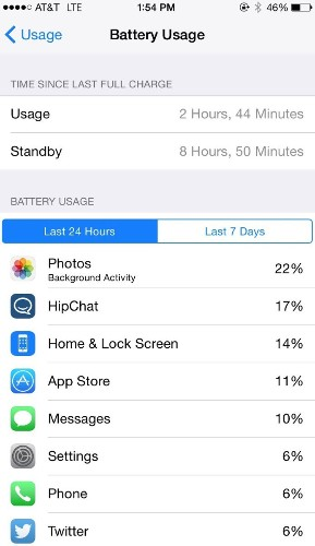 Now You Can Find Out What's Really Killing Your iPhone's Battery Life