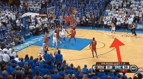 An OKC Player Got Away With A Dirty Foul On The Shot That Decided The Thunder-Rockets Game