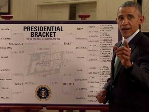 Obama bemoans his NCAA bracket: 'It's over'