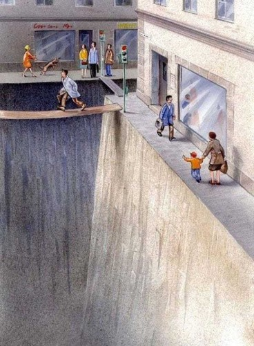 This ingenious illustration reveals how much space we give to cars - Business Insider