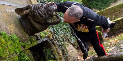 Why the Chairman of the Joint Chiefs drank from a fountain shaped like a bulldog in France