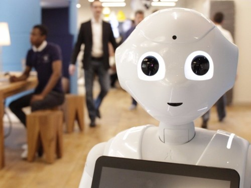 This human-like robot speaks two languages, moves around autonomously, and can tell when you need assistance