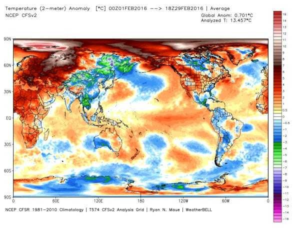 The Northern Hemisphere's temperature has reached a terrifying milestone - Business Insider