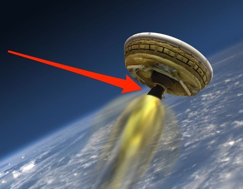 NASA tested their giant flying saucer on Monday June 8