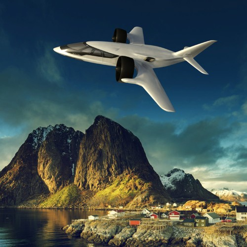 This futuristic jet takes off vertically, so you can keep it in your backyard