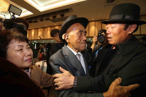 A traumatic final farewell for Korean families reunited after 60 years apart