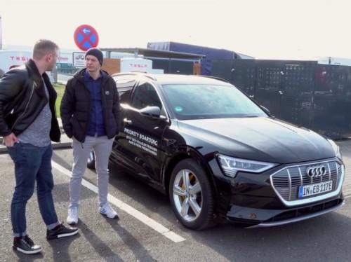 Audi e-trons are blocking Tesla Supercharger stalls