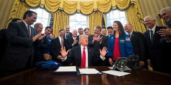 Trump passes the NASA Transition Authorization Act of 2017 - Business Insider