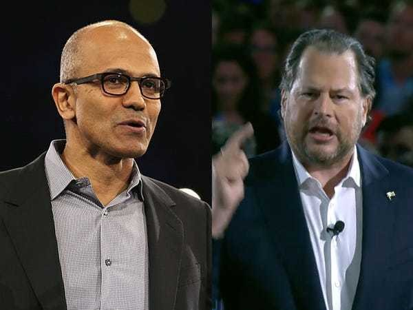 A timeline of the complicated history between Microsoft and Salesforce - Business Insider