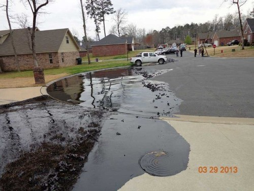 New Photos From Arkansas Oil Spill Show The Full Extent Of The Damage