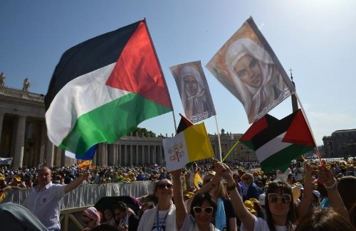 Pope Francis just created the first Palestinian saints at Vatican mass