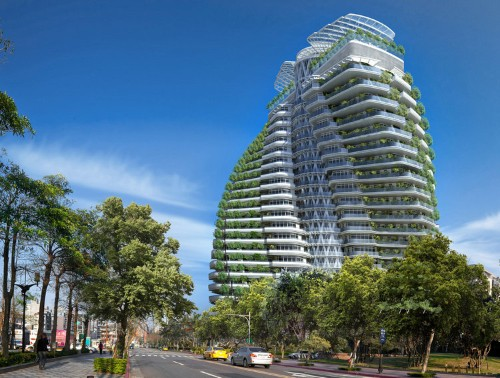 Taiwan's smog-eating twisting tower will feature luxury apartments — take a look inside
