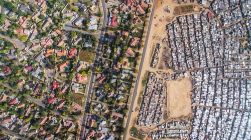 A drone captured these shocking photos of inequality in South Africa
