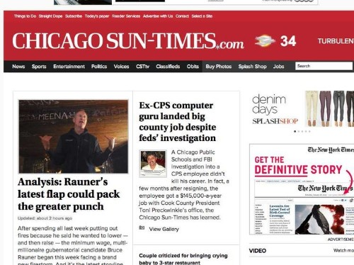 The Ninth-Largest Newspaper In The Country Is Trying Out A Bitcoin Paywall
