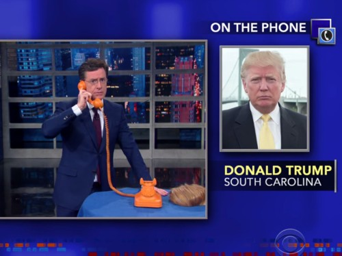 Donald Trump called 'The Late Show' as Stephen Colbert mocked his call-in interviews