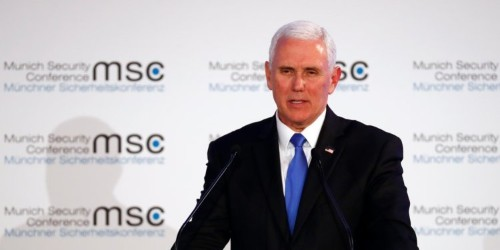 Mike Pence tried to 'bring greetings' from Trump to an audience of world leaders. The silence was deafening.