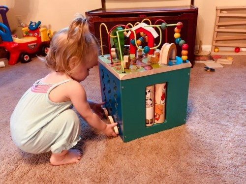 Battat Wooden Activity Cube review: classic activity cube for toddlers