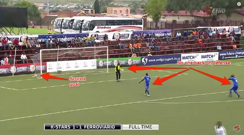 Soccer team goes bonkers after scoring, gives up wide-open goal while celebrating