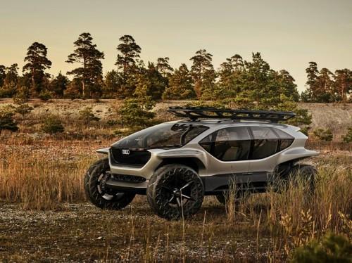 Audi's autonomous quattro off-roader uses drones instead of headlights