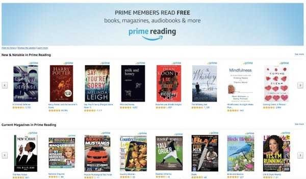 Amazon has a great perk for Prime members who love to read - Business Insider