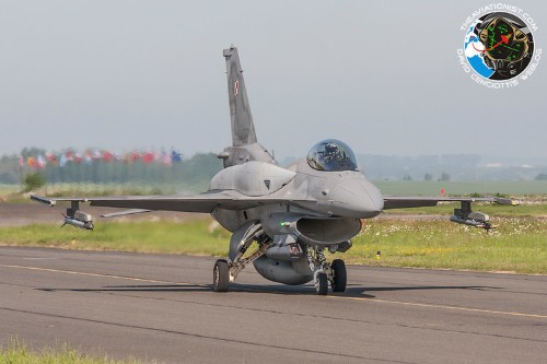 A Polish F-16 jet collided with a drone