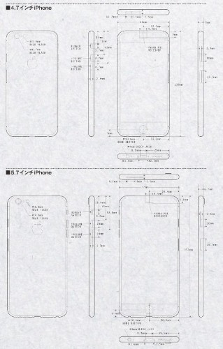 Schematics Show The Measurements For The Big-Screen iPhone 6