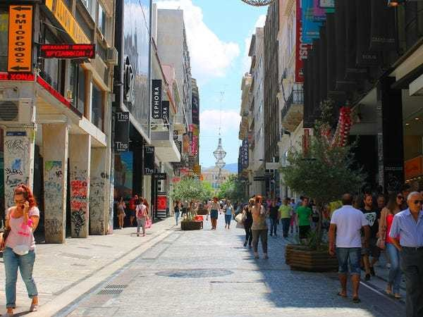 Athens richest street then and now pictures - Business Insider