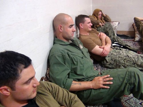 Iran released these photos of the US Navy sailors it detained overnight