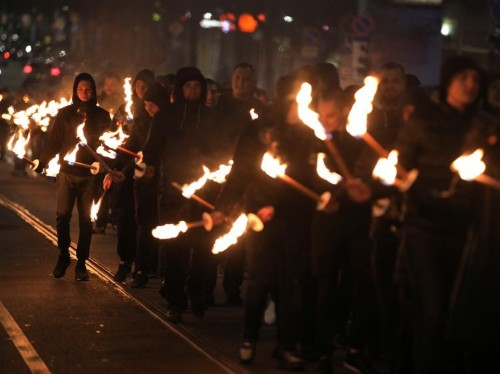 Torch-bearing nationalists marched through streets of Bulgaria to remember a pro-Nazi general, amid a rising far-right movement
