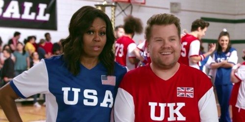 James Corden hosted Michelle Obama, Benedict Cumberbatch, and more in an epic USA v. UK dodgeball game