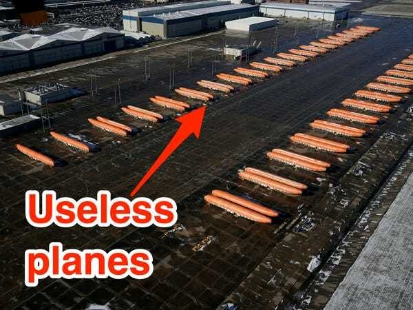One photo shows why Boeing had to shut down production of its grounded 737 Max - Business Insider