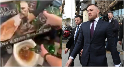 Pub owner filmed pouring Conor McGregor's whiskey down the toilet