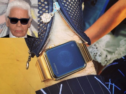Apple once gifted Karl Lagerfeld with a custom $25,000 Apple Watch, but the fashion icon might have never set it up