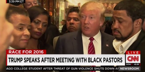Donald Trump holds chaotic Trump Tower press conference with black pastors