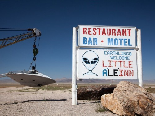A hotel near Area 51 is completely booked for the viral alien raid