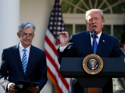 Trump says he never threatened to fire Federal Reserve's Jerome Powell