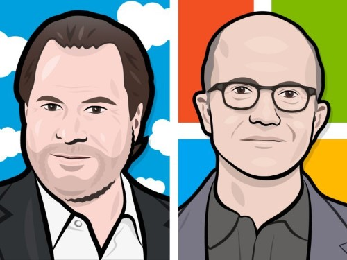 Here's how Marc Benioff tested Satya Nadella before deciding to cozy up with Microsoft