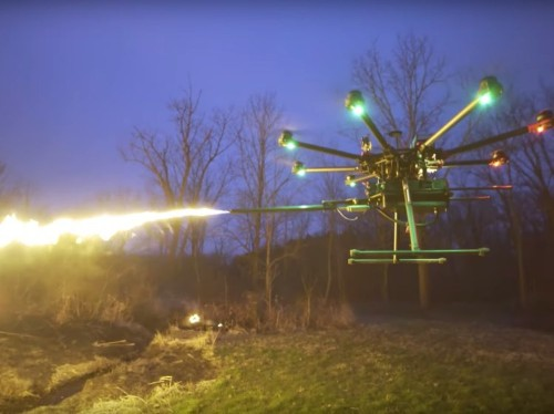 You can now buy a flamethrower to attach to your drone for $1,500