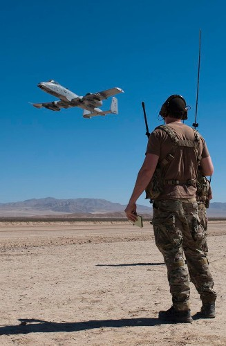 Stunning images show US Air Force A-10s operating on a dry lake bed in California