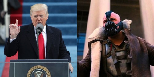 People noticed that Trump basically quoted Bane in his inauguration speech