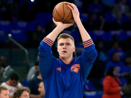 Knicks coach Derek Fisher has an interesting theory on why 20-year-old rookie Kristaps Porzingis has adjusted so well to the NBA