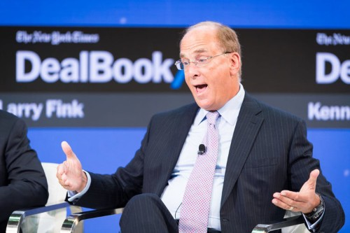 "Blackrock CEO: Larry Fink sees ""risk of a melt up, not a melt down"" for markets"