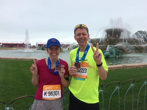 My dad and I are running the New York City Marathon together— here's how we're training for it at 26 and 56.