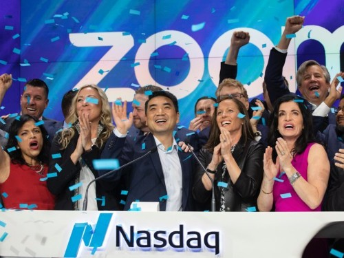 Video conferencing company Zoom soared 81% in its first day of public trading — now its CEO and CFO are focusing on these 3 goals