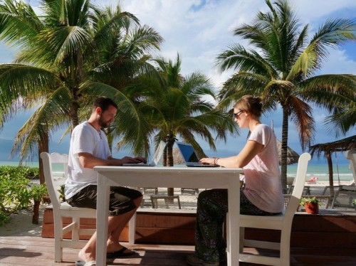 A couple who ditched their 9-5 jobs years ago to travel the world explain how they afford it