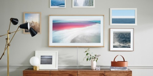 Samsung made a TV with wooden borders that looks like a picture frame