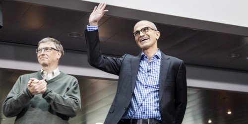 Microsoft CEO Satya Nadella told a cute joke about what it's really like to work with Bill Gates