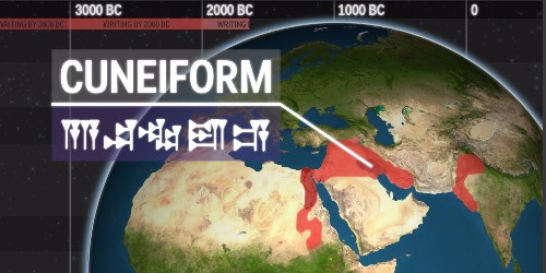 Animated map shows how the world's first written languages spread